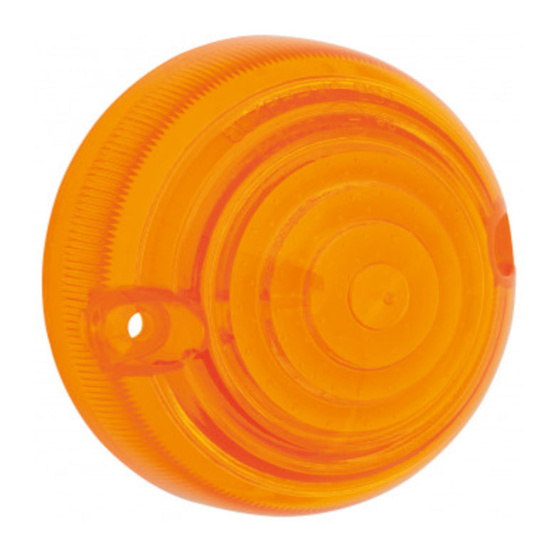 PLASTIC INDICATOR LENS, AMBER, SCREW FIXING