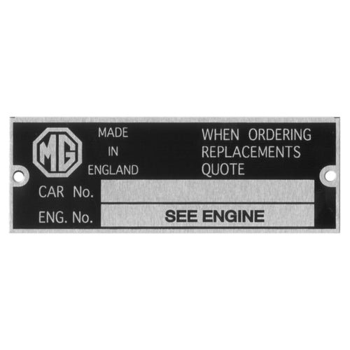 CHASSIS PLATE MG