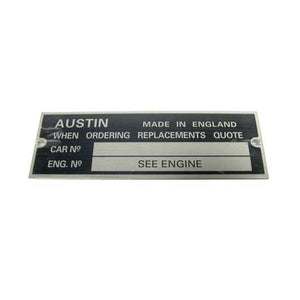 CHASSIS PLATE AUSTIN