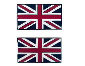 BADGE, UNION JACK, STICK ON, PAIR , ENAMEL
