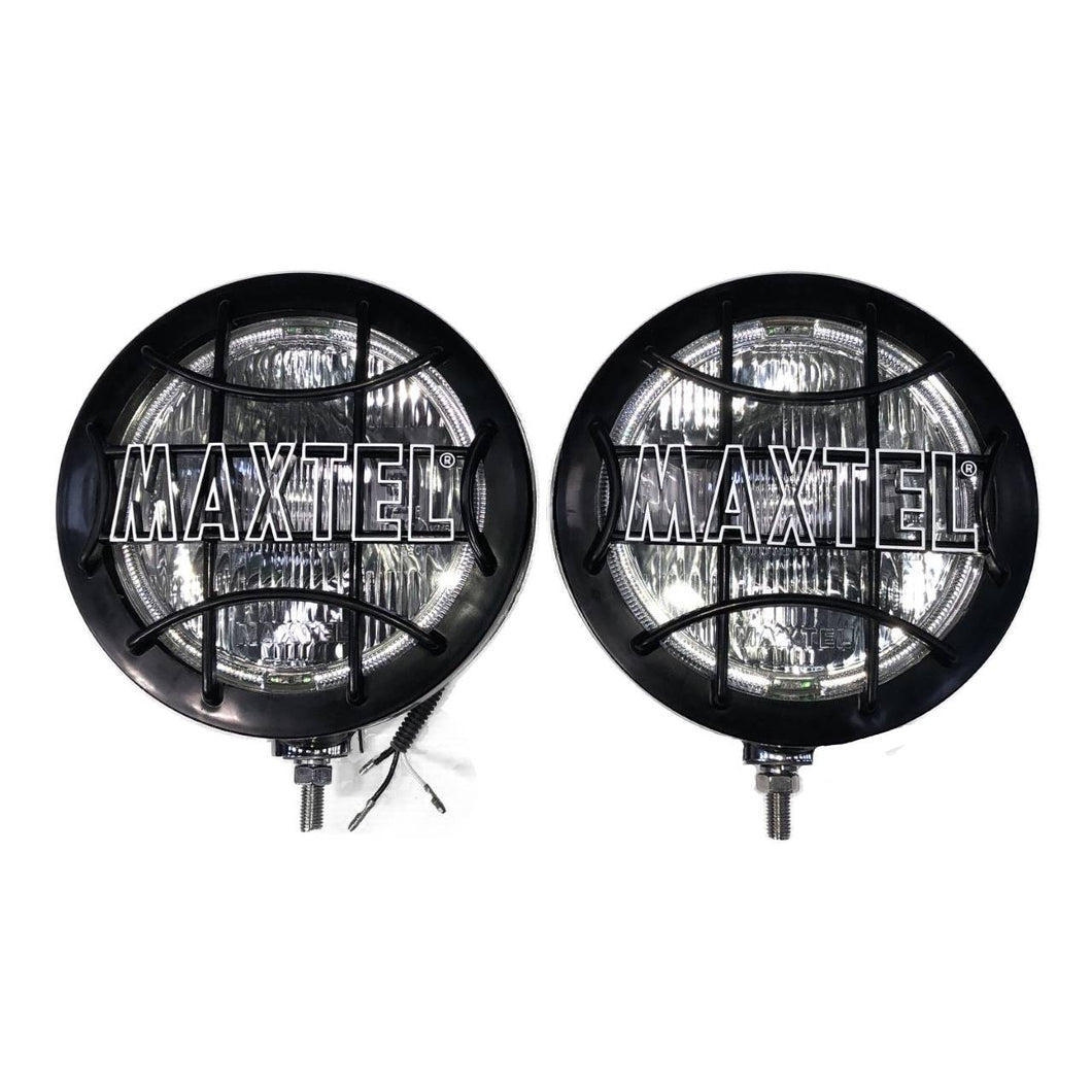 210mm MAXTEL LAMPS, STAINLESS STEEL, PAIR