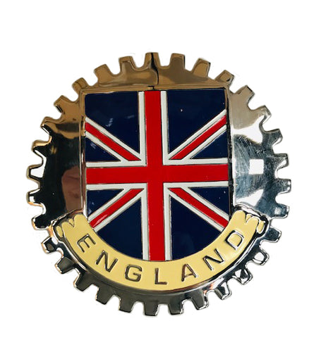 BADGE, ENGLAND UNION FLAG, TOOTHED, ENAMEL