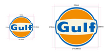 Load image into Gallery viewer, GULF RACING STICKER SMALL