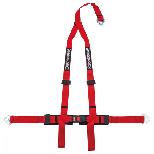 RED 3-POINT HARNESS KIT, BOLT MOUNTING