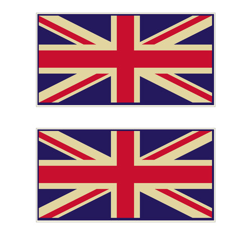 UNION JACK STICKER , PAIR