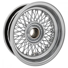 "Load image into Gallery viewer, WIRE WHEEL, CHROME, 15""x 5"",72 SPOKE"