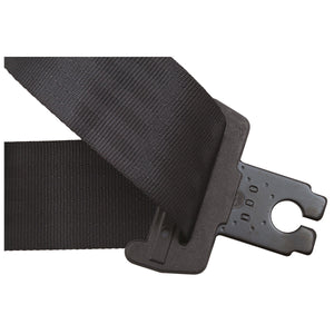 SECURON STATIC FRONT SEAT BELT 30CM STALK BLACK