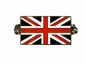 BADGE, UNION JACK, SCREW TYPE, ENAMEL