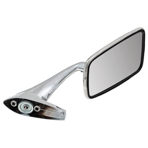 STAINLESS STEEL DOOR MIRROR, FLAT, RH