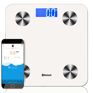 SOGA Wireless Bluetooth Digital Body Fat Scale Bathroom Health Analyser Weight White