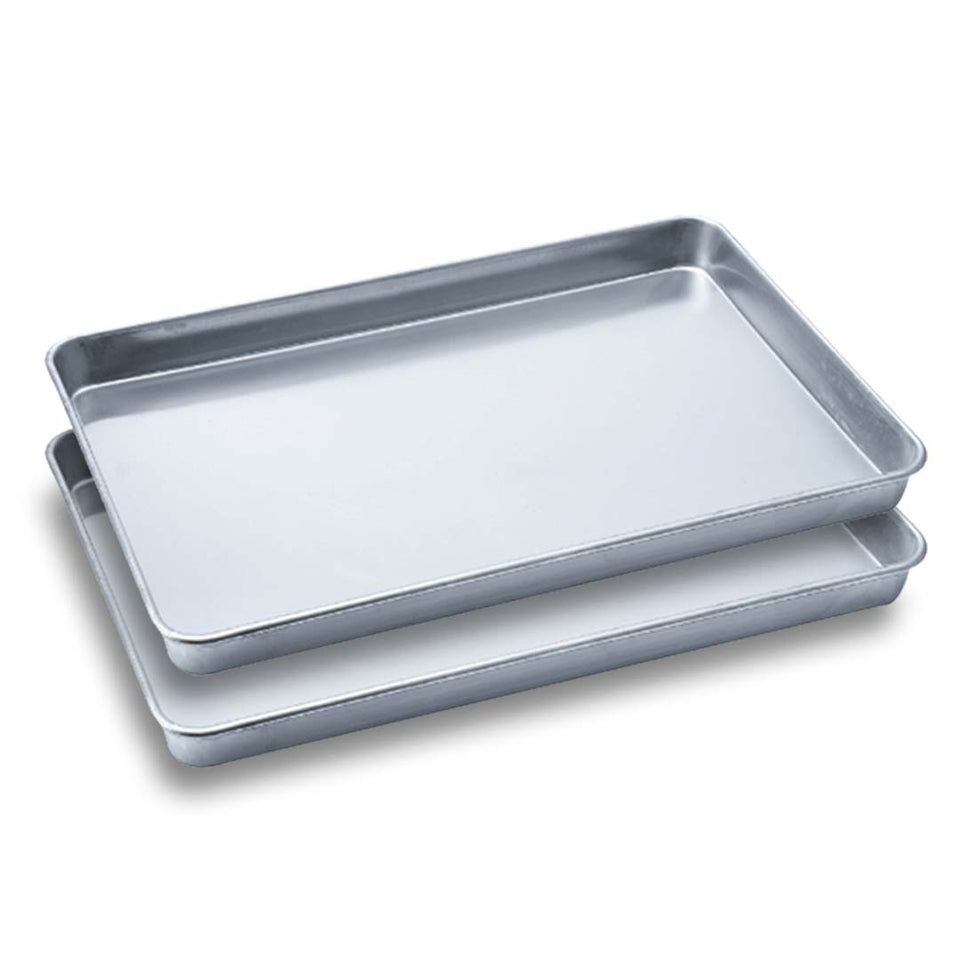 SOGA 2X Aluminium Oven Baking Pan Cooking Tray for Baker Gastronorm 60*40*5cm