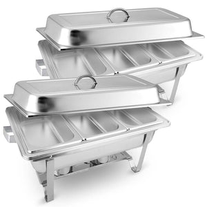 SOGA 2X Stainless Steel Chafing Food Warmer Catering Dish 3*3L Three Trays