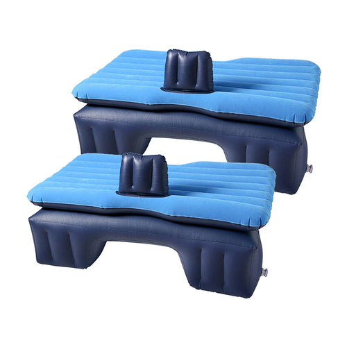 SOGA 2X Inflatable Car Mattress Portable Travel Camping Air Bed Rest Sleeping Bed Blue