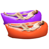2X Fast Inflatable Sleeping Bag Lazy Air Sofa Orange/Purple