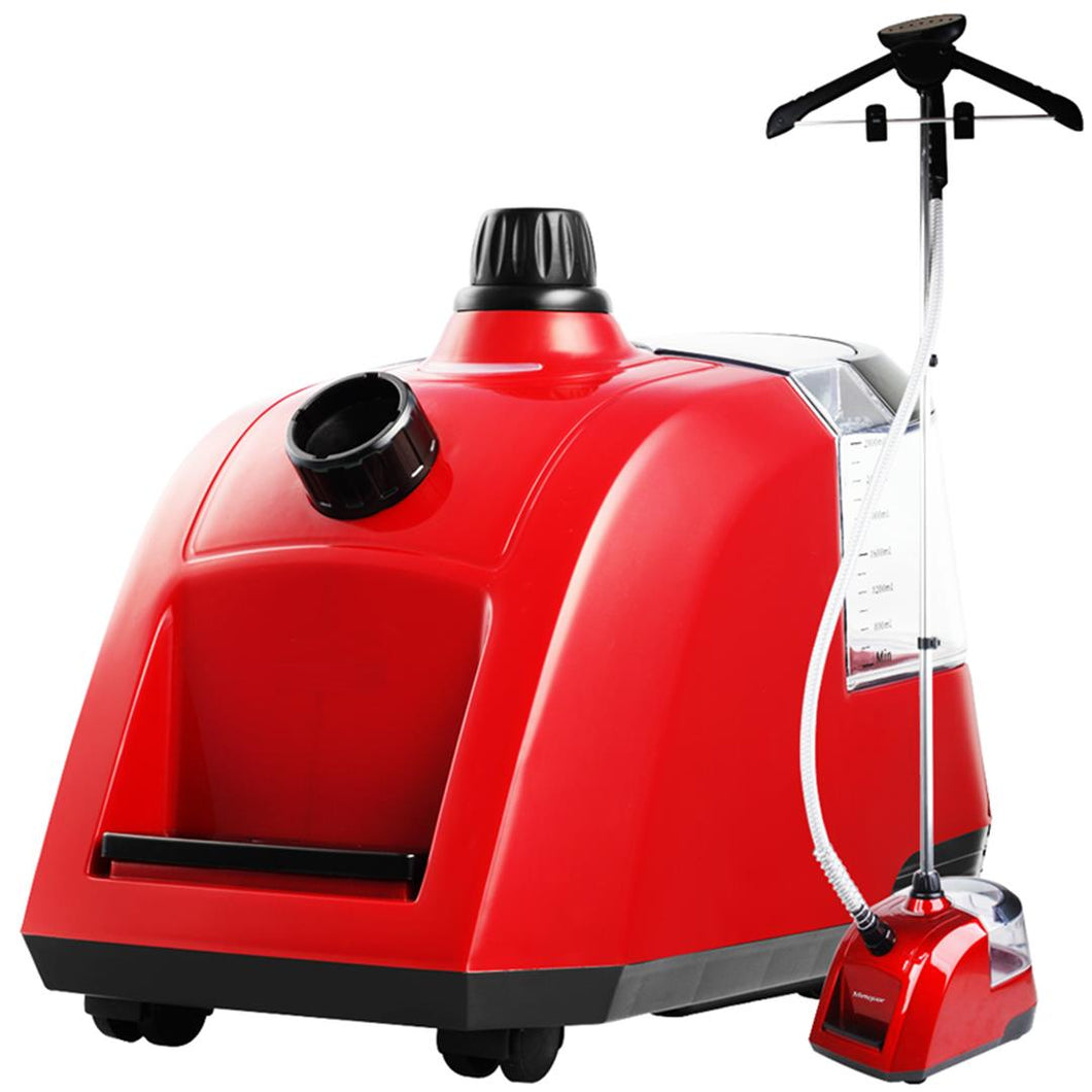 SOGA Professional Commercial Garment Steamer Portable Cleaner Steam Iron 80MINS Red
