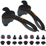 SOGA 2X Portable Handheld Massager Soothing Heat Stimulate Blood Flow Foot Shoulder Massage
