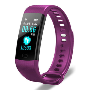SOGA Sport Smart Watch Health Fitness Wrist Band Bracelet Activity Tracker Purple