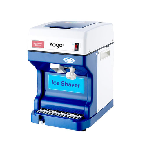 SOGA Smoothie Snow Cone Electric Ice Shaver Machine 120kg/h For Commercial/ Home Use