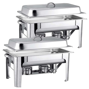 SOGA 2X Stainless Steel Chafing 9L Catering Dish Food Warmer