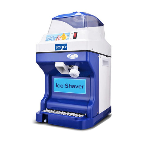 SOGA Ice Shaver Commercial Electric Stainless Steel Ice Crusher Slicer Machine 180KG/h 88