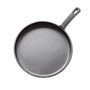 SOGA 26cm Round Cast Iron Frying Pan Skillet Griddle Sizzle Platter