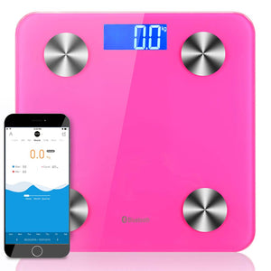 SOGA Wireless Bluetooth Digital Body Fat Scale Bathroom Health Analyser Weight Pink