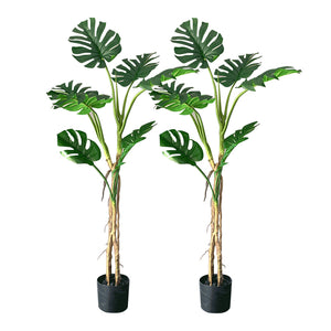 SOGA 2X 160cm Green Artificial Indoor Turtle Back Tree Fake Fern Plant Decorative