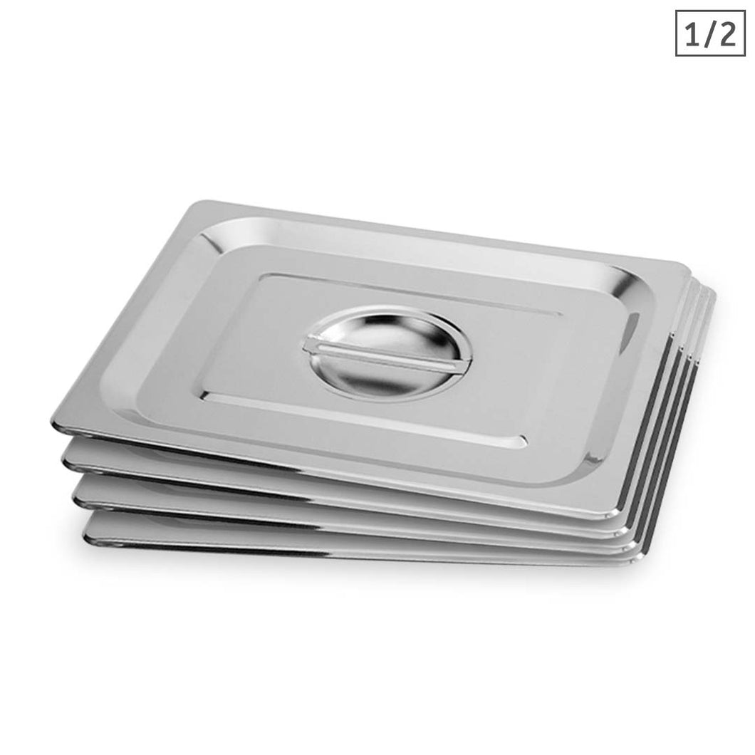 SOGA 4X Gastronorm GN Pan Lid Full Size 1/2 Stainless Steel Tray Top Cover