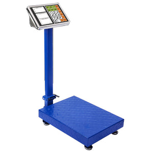 SOGA 150kg Electronic Digital Platform Scale Computing Shop Postal Scales Weight Blue
