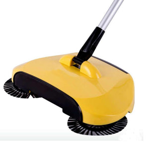 SOGA Auto Hand Push Sweeper Broom Household Cleaning Without Electricity Cleaner Mop Yellow