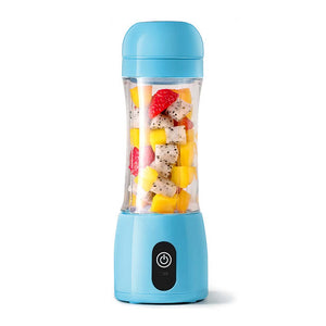 SOGA 380ml Portable Mini USB Rechargeable Handheld Fruit Mixer Juicer Blue