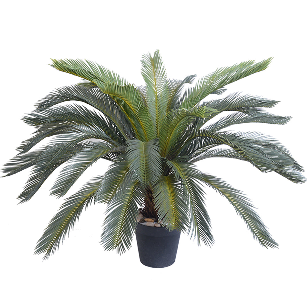 SOGA 155cm Artificial Indoor Cycas Revoluta Cycad Sago Palm Fake Decoration Tree Pot Plant
