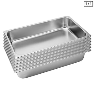 SOGA 2X Gastronorm GN Pan Full Size 1/1 GN Pan 10cm Deep Stainless Steel Tray