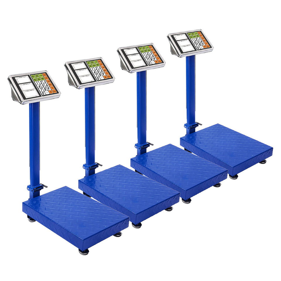 SOGA 4X 150kg Electronic Digital Platform Scale Computing Shop Postal Weight Blue