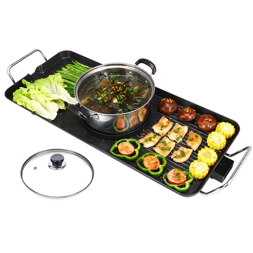 SOGA Electric Steamboat Asian Hot Pot Soup Maker Fondue Teppanyaki Hotpot Grill
