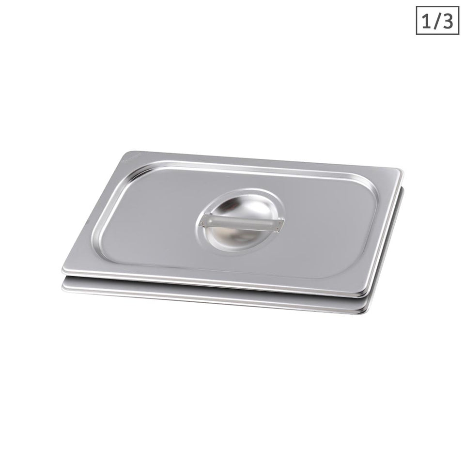 SOGA 2X Gastronorm GN Pan Lid Full Size 1/3 Stainless Steel Tray Top Cover