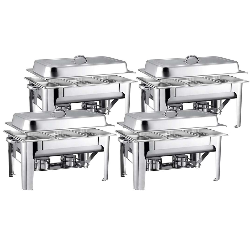 SOGA 4X 9L Stainless Steel 3 Pans Bain-marie Chafing Catering Dish Buffet Food Warmer