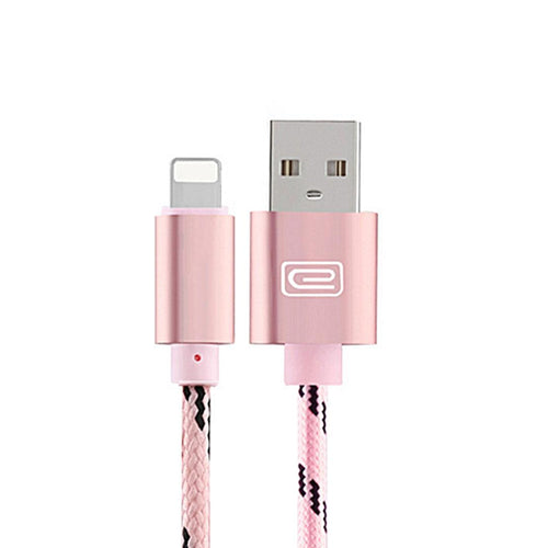 Durable 1.5 Meter Nylon Micro Usb Cable for iPhone 2.0A Copper Cord in 5 Colours