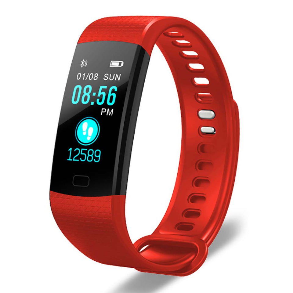SOGA Sport Smart Watch Health Fitness Wrist Band Bracelet Activity Tracker Red