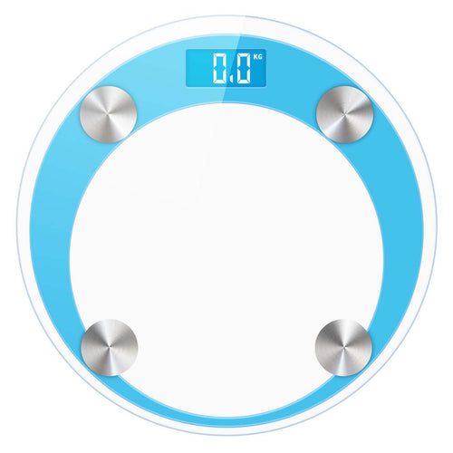 SOGA Digital Bathroom Weight Scales Body Fat Scale Water Glass LCD AU Stock Blue