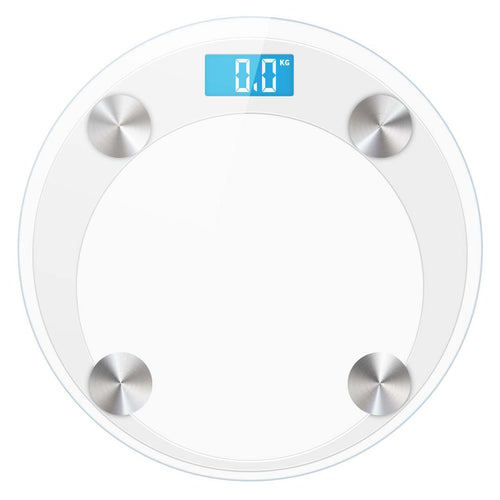 SOGA Digital Bathroom Weight Scales Body Fat Scale Water Glass LCD AU Stock White