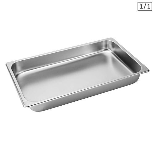 SOGA Gastronorm GN Pan Full Size 1/1 GN Pan 6.5cm Deep Stainless Steel Tray