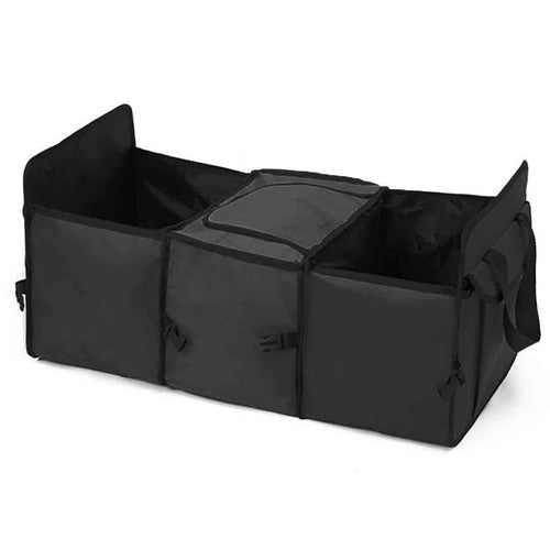 SOGA Car Portable Storage Box Waterproof Oxford Cloth Multifunction Organizer Black