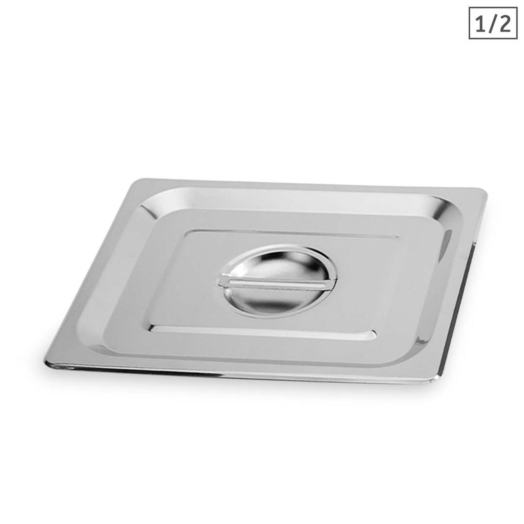 SOGA Gastronorm GN Pan Lid Full Size 1/2 Stainless Steel Tray Top Cover