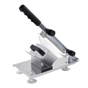 SOGA Manual Frozen Meat Slicer Handle Meat Cutting Machine 18/10 Commercial Grade Stainless Steel