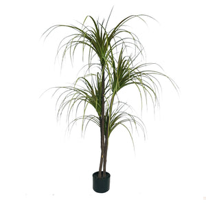 SOGA 150cm Green Artificial Indoor Dragon Blood Tree Fake Plant Simulation Decorative