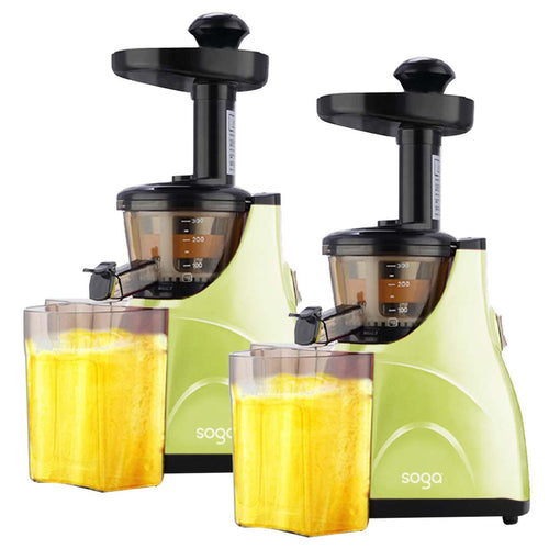 SOGA 2X Slow Juicer Premium Masticating Electric Vegetable Juice Extractor Green