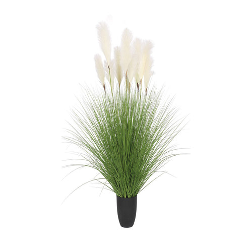 SOGA 110cm Artificial Indoor Potted Reed Bulrush Grass Tree Fake Plant Simulation Decorative