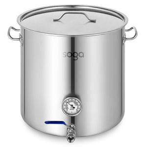 SOGA Stainless Steel Brewery Pot 50L With Beer Valve 40*40cm