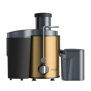 SOGA Juicer 400W Professional Stainless Steel Whole Fruit Vegetable Juice Extractor Diet Gold